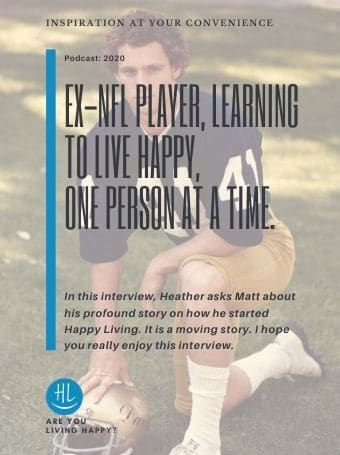 Ex-NFL Player, Learning to Live Happy