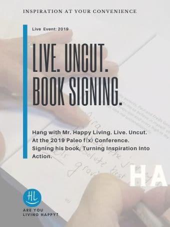 Live. Uncut. Book signing.